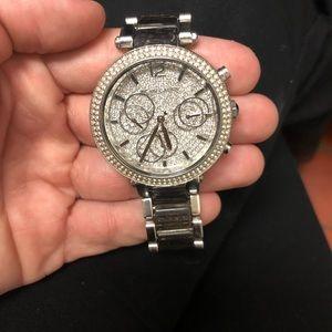 Silver MK Watch